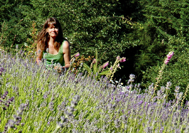 Helen in the blooming lavendar.