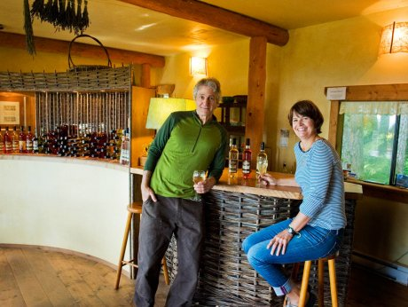 Helen Grond and Steve McGrath in the tasting room.
