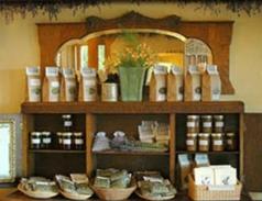 Jams and herbal teas.